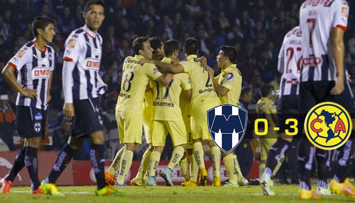 América sacudió a Monterrey en su propia casa.
